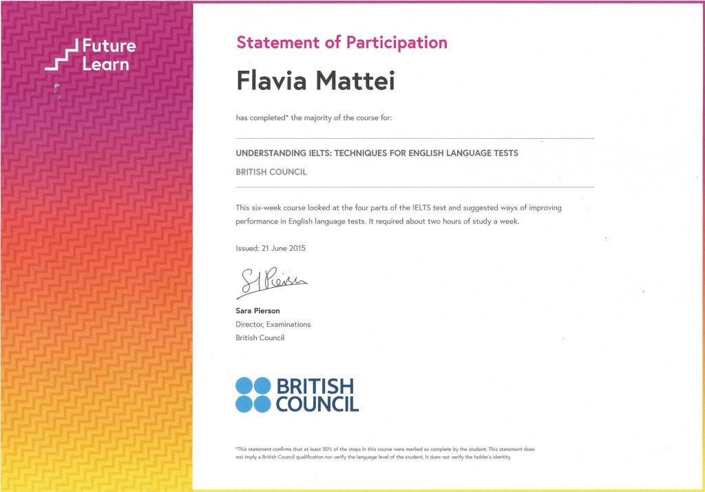 IELTS Course Certificate
